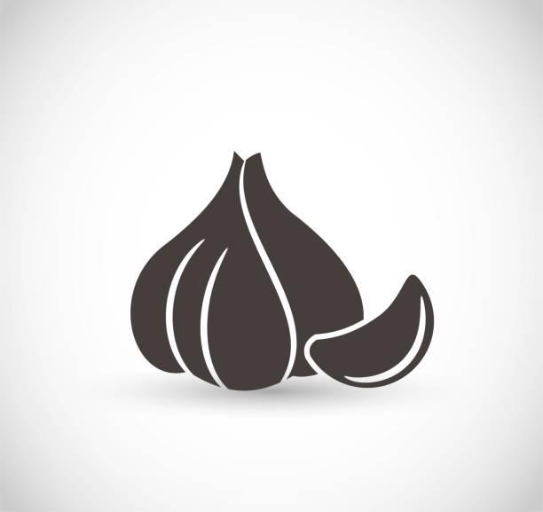 Garlic icon vector Garlic icon vector art garlic stock illustrations