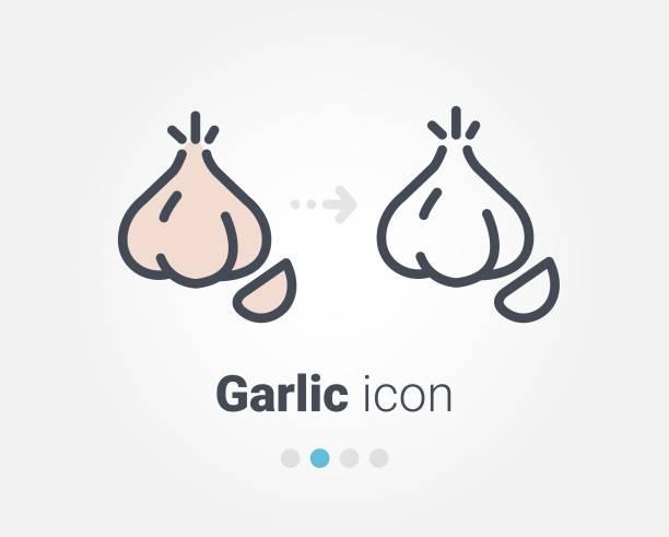 garlic vector icon garlic vector icon garlic stock illustrations