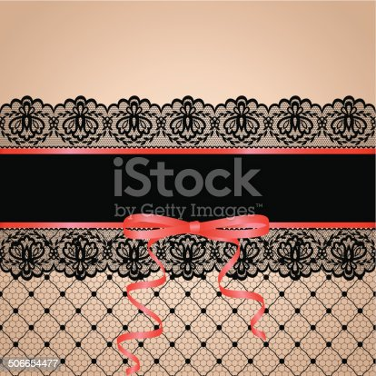 Black stockng with lace garter