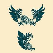 Garuda Emblem Logo Vectorsimple Thailands National
