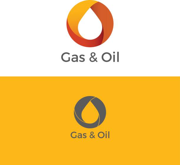 illustrazioni stock, clip art, cartoni animati e icone di tendenza di gas and oil logo - benzina
