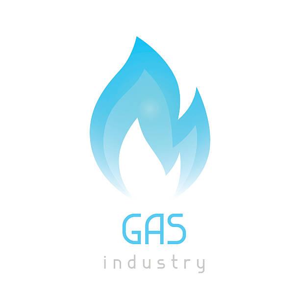 ilustraciones, imágenes clip art, dibujos animados e iconos de stock de gas blue flame. industrial conceptual illustration of fire - gas