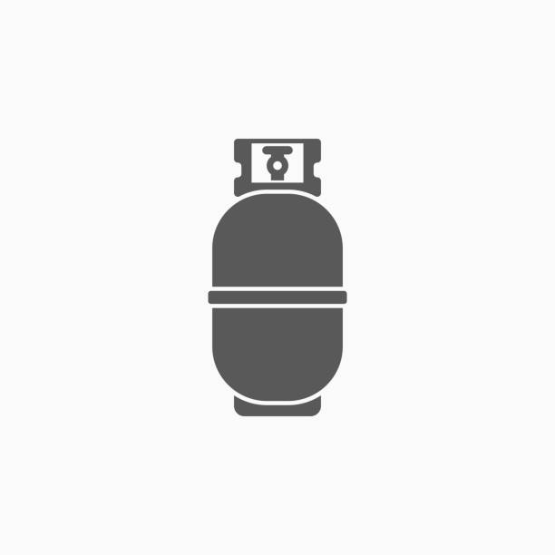 gas bottle icon gas bottle icon cylinder stock illustrations