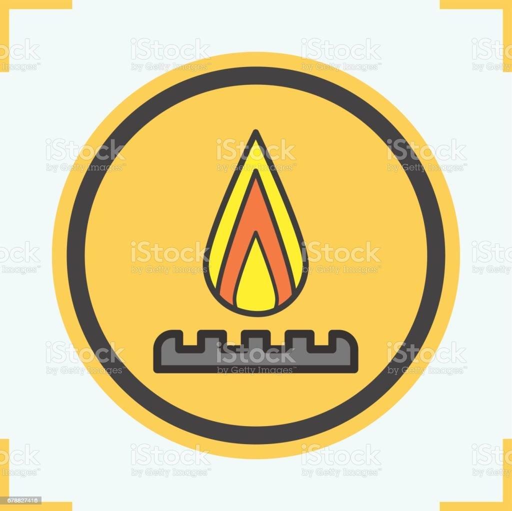 Icône de brûleur à gaz icône de brûleur à gaz – cliparts vectoriels et plus d'images de couleur libre de droits