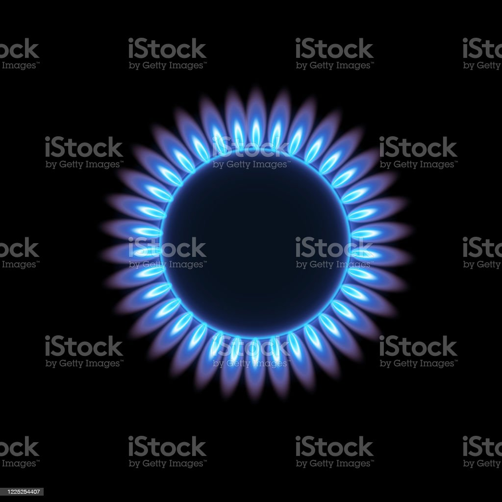 Gas burners, flame. - Royalty-free Abstrato arte vetorial