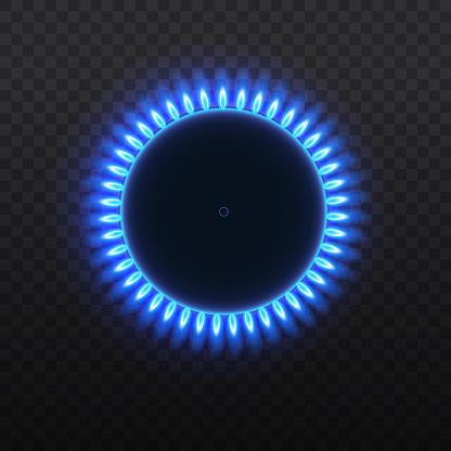 Gas Burners Flame - Arte vetorial de stock e mais imagens de Abstrato
