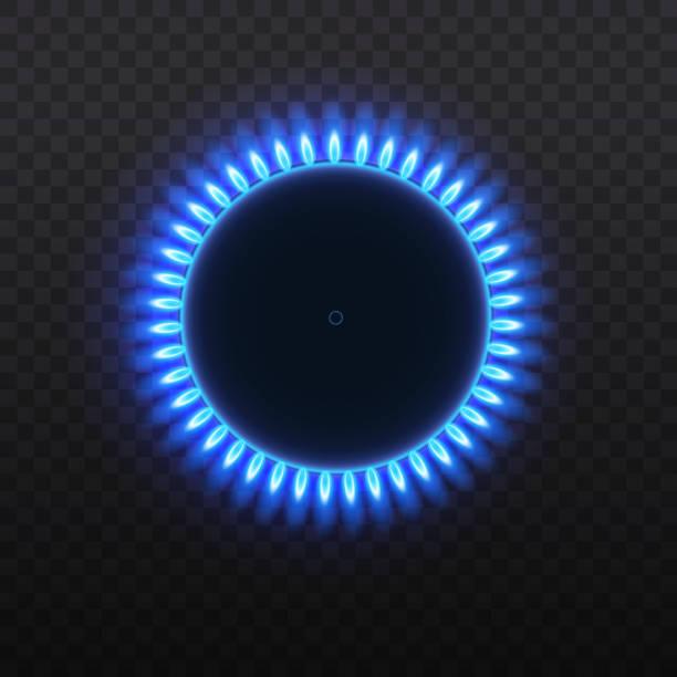 ilustrações de stock, clip art, desenhos animados e ícones de gas burners, flame. - burned oven