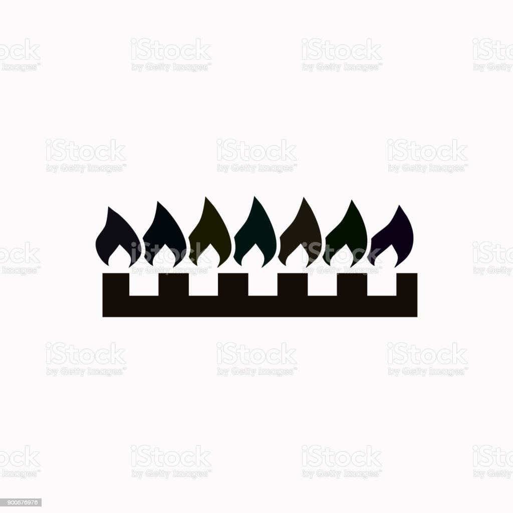 Gas burners vector  icon. vector art illustration
