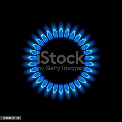 Vector illustration of gas flame
