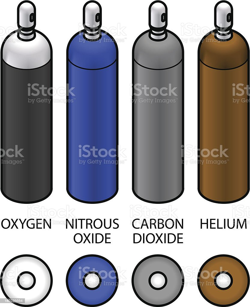 Gas cylinders royalty-free gas cylinders stock vector art & more images of carbon dioxide