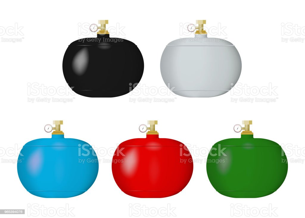 Gas cylinders. royalty-free gas cylinders stock vector art & more images of balloon