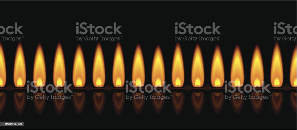 Gas Flame Yellow royalty-free stock vector art