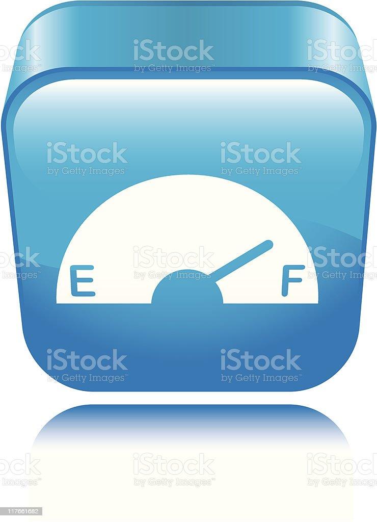 Gas Gauge Icon royalty-free stock vector art