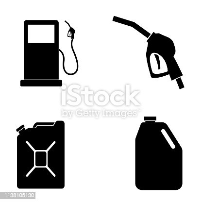 Gas Icon isolated on white background