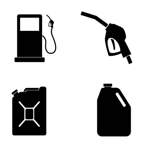 illustrazioni stock, clip art, cartoni animati e icone di tendenza di gas icon isolated on white background - benzina