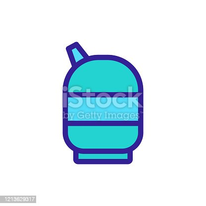 gas icon vector. Thin line sign. Isolated contour symbol illustration