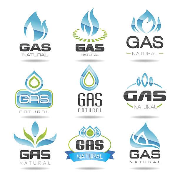 Gas industry symbols vector art illustration