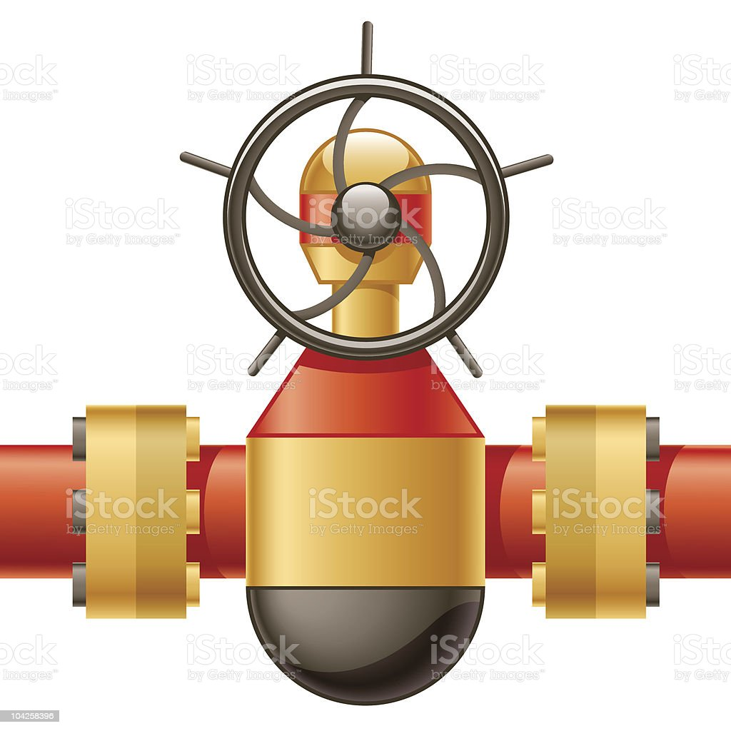 Gas Line royalty-free stock vector art