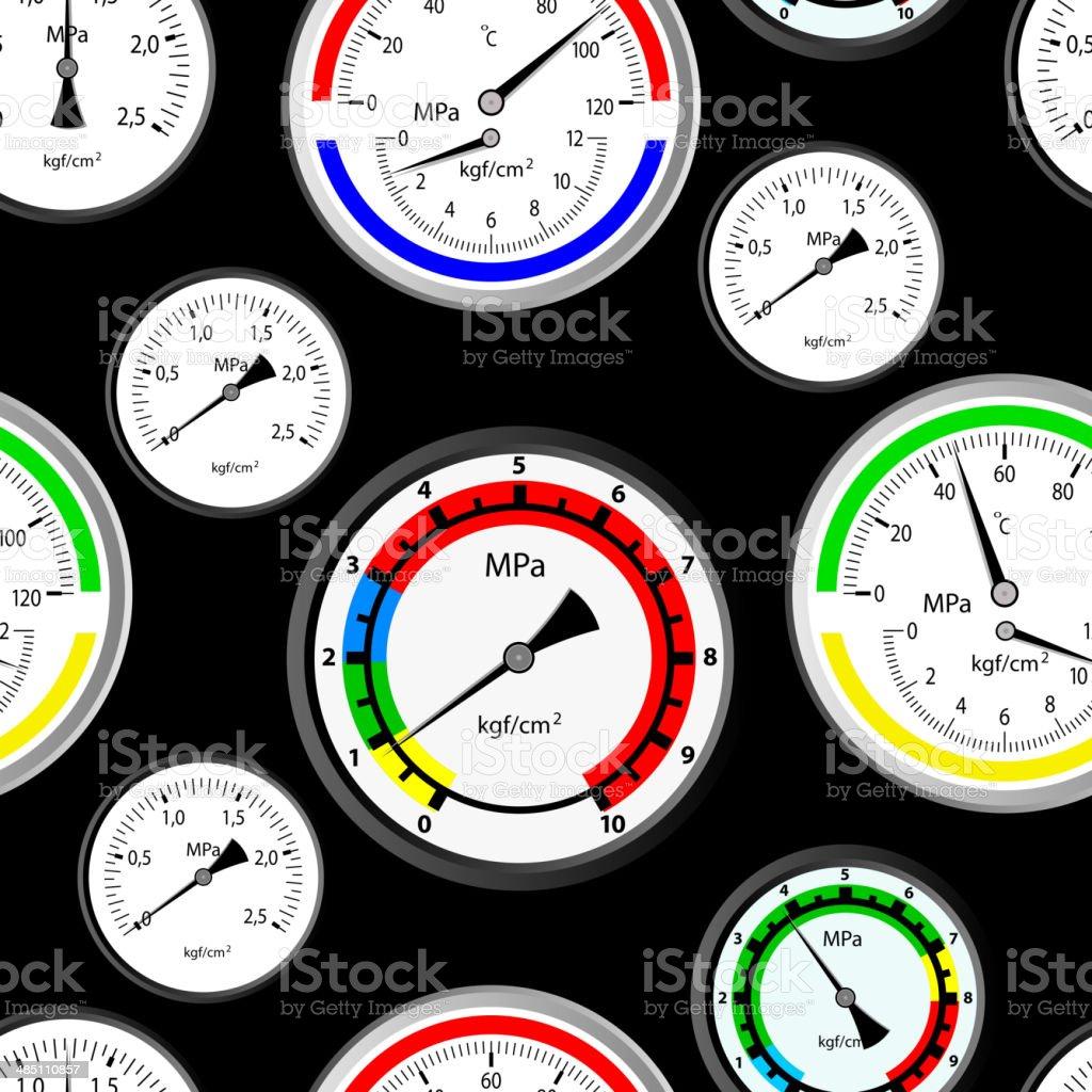 gas manometer royalty-free stock vector art
