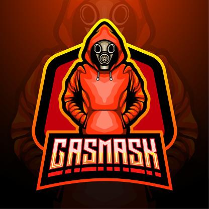 Gas mask esport mascot design