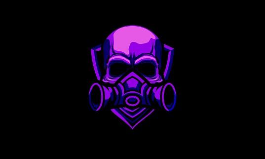 Gas Mask Skull Vector Mascot
