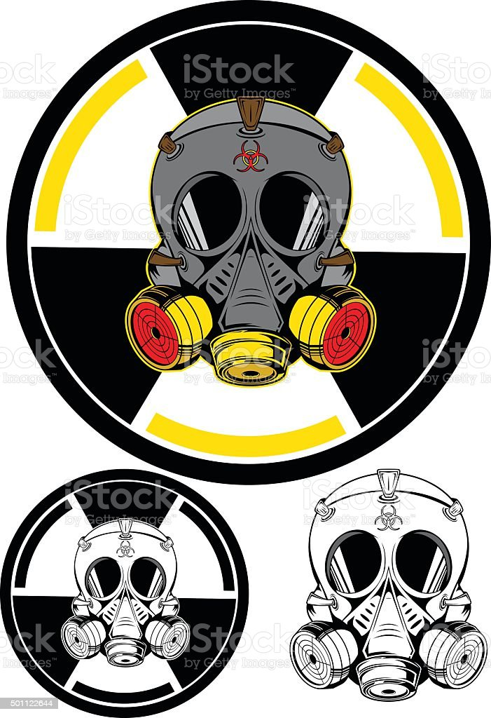 Gas mask vector art illustration