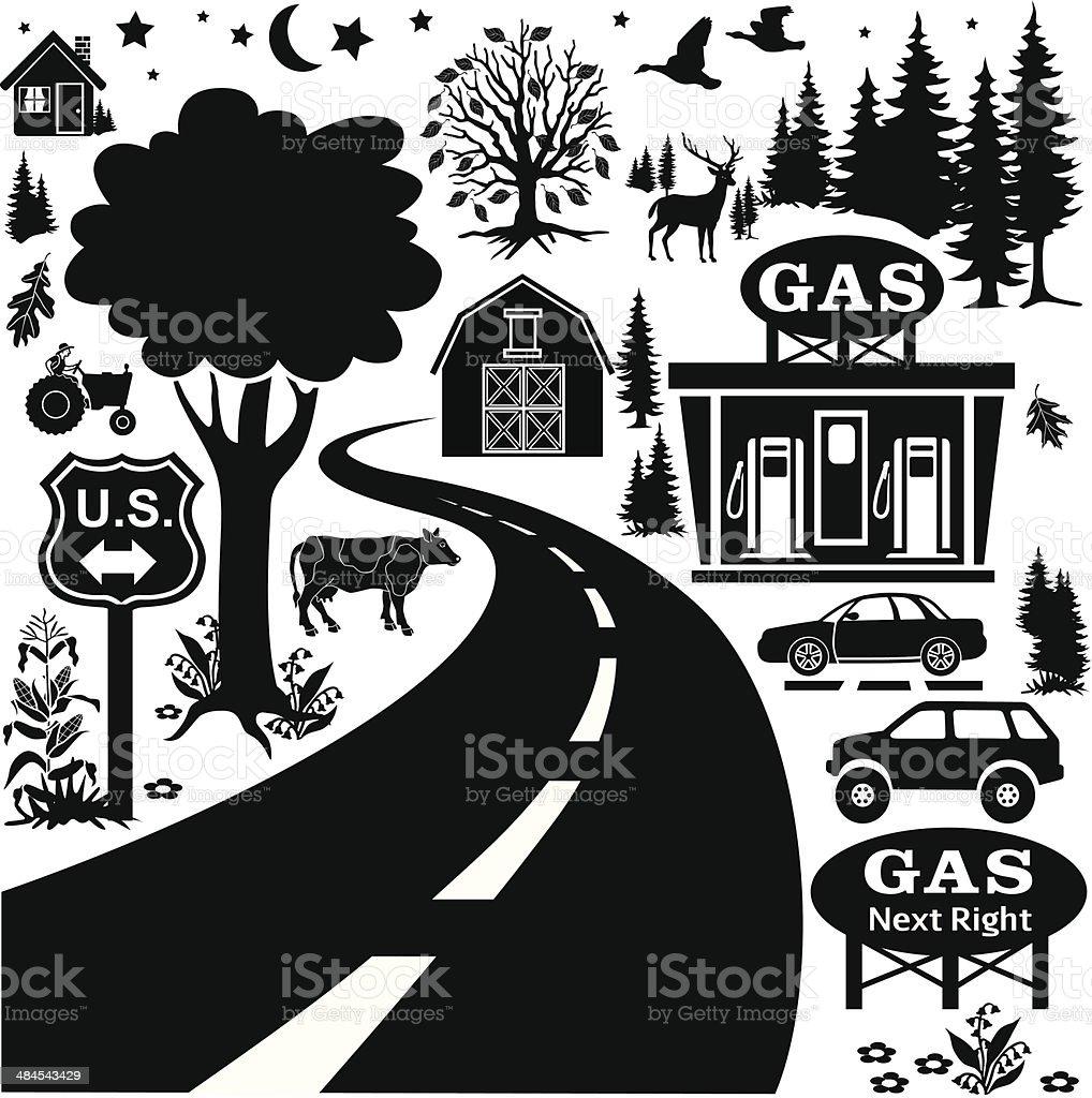 gas next right vector art illustration