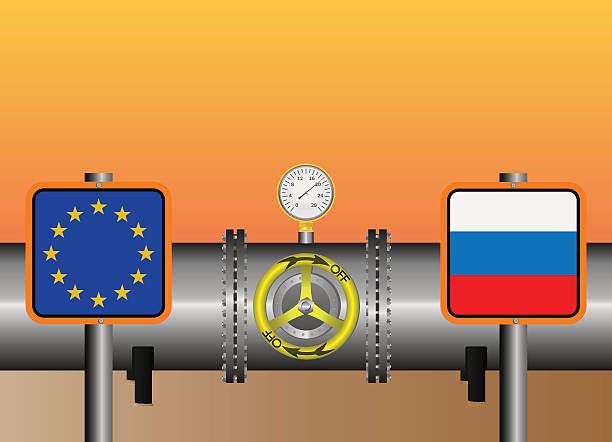 gas pipeline euro - flange stock illustrations, clip art, cartoons, & icons