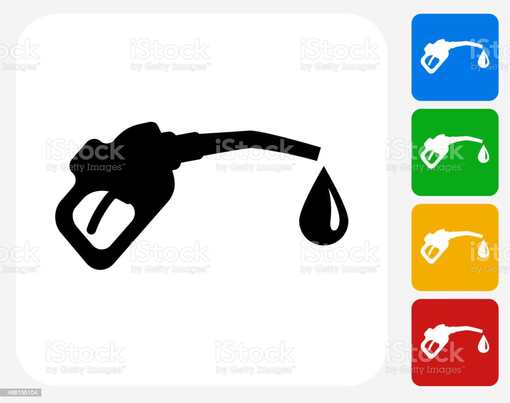 Gas Pump Icon Flat Graphic Design vector art illustration