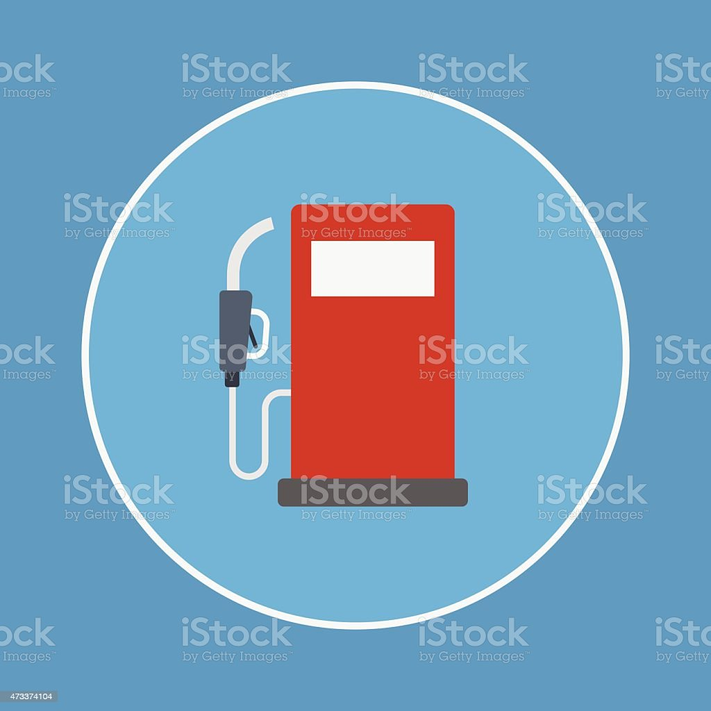 gas pump icon vector art illustration