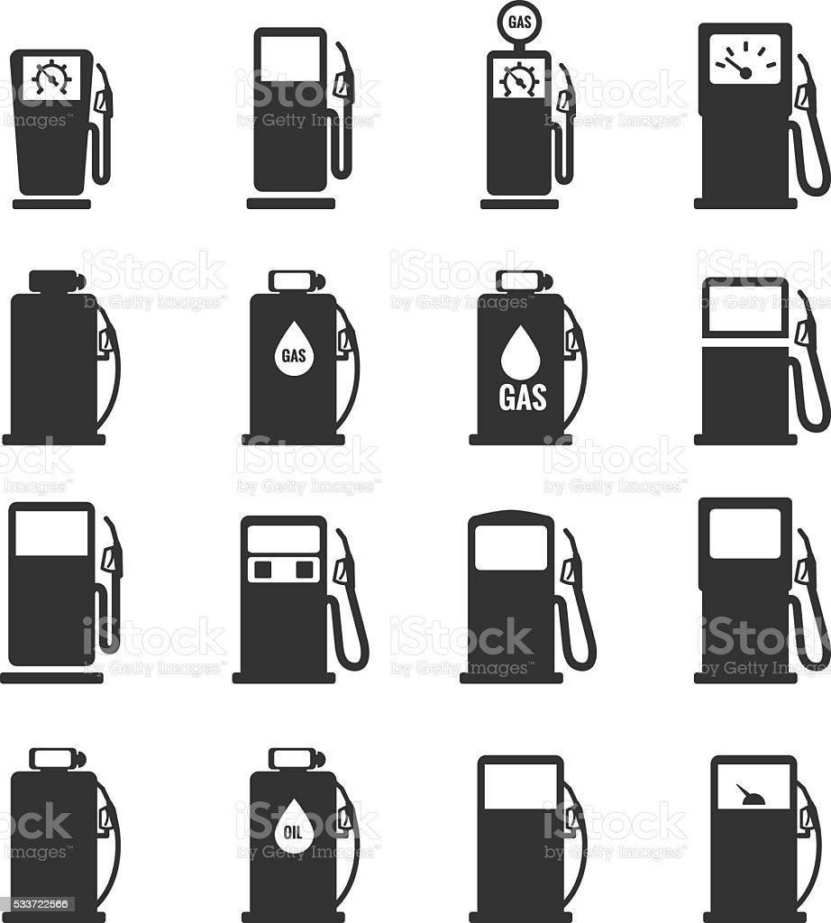 Gas pump icons set . Gas pump icon  Vector illustration vector art illustration