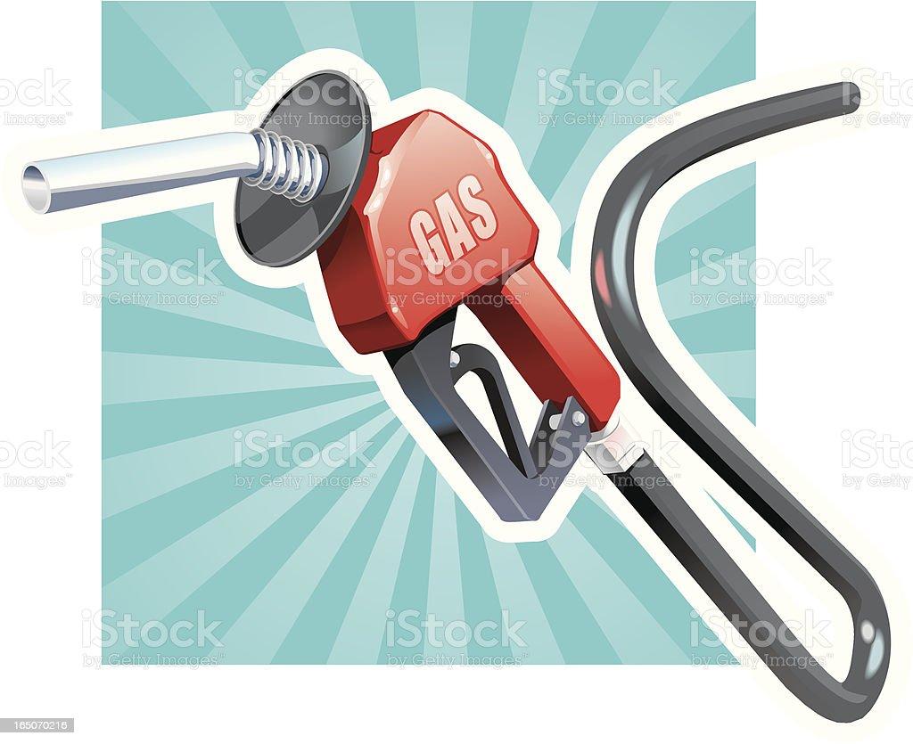 Gas Pump Nozzle vector art illustration