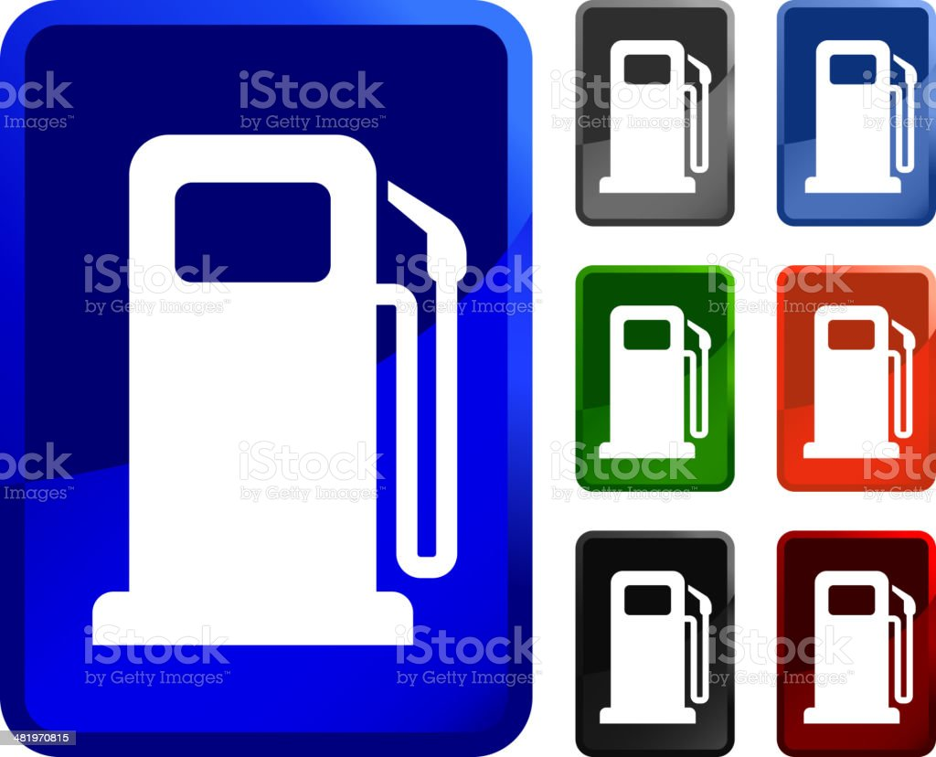 Gas Pump royalty free vector icon set stickers royalty-free stock vector art