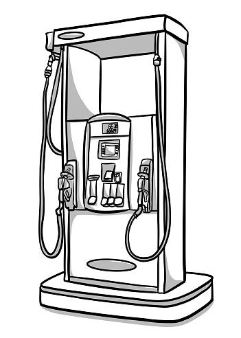A lone gas pump