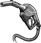Gas Pump, Very detailed Ink drawing - vector illustration