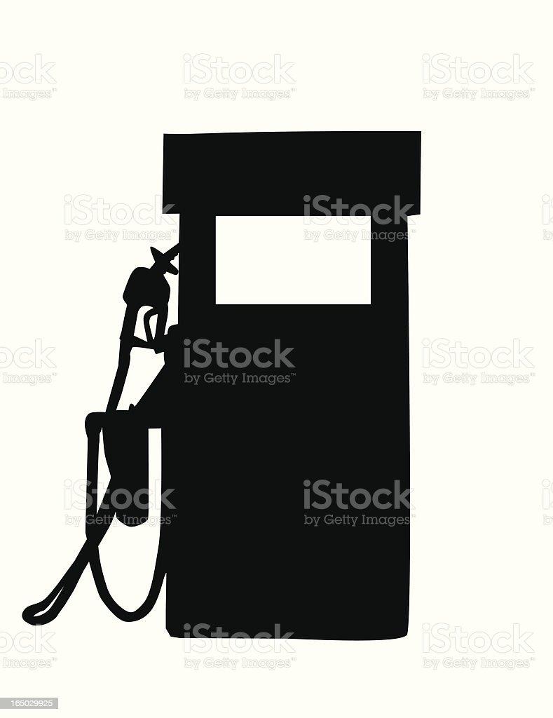 Gas Pump Vector Silhouette royalty-free stock vector art