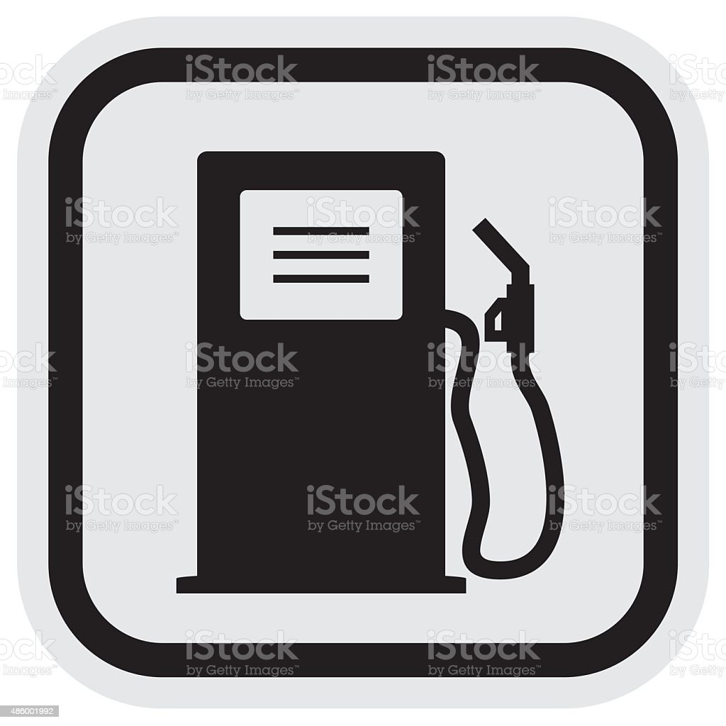 gas station, frame vector art illustration