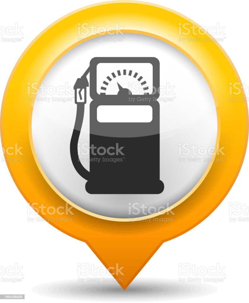 Gas Station Icon royalty-free stock vector art