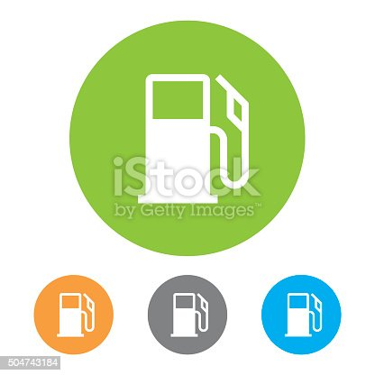 istock Gas Station Icons. Vector 504743184