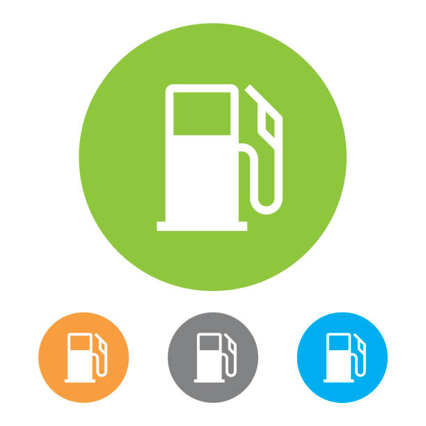 Gas Station Icons. Vector vector art illustration