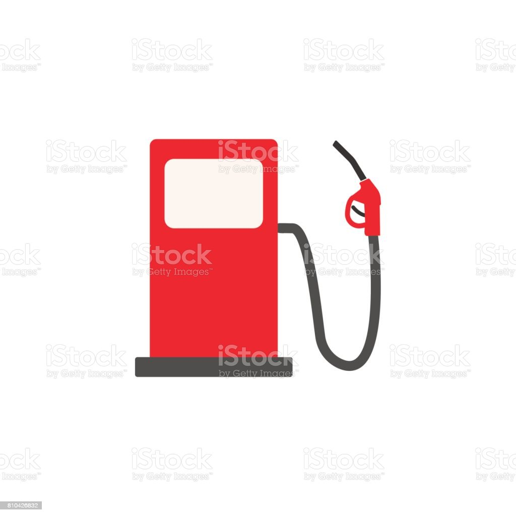 Gas station solid icon, fuel and refill sign vector art illustration