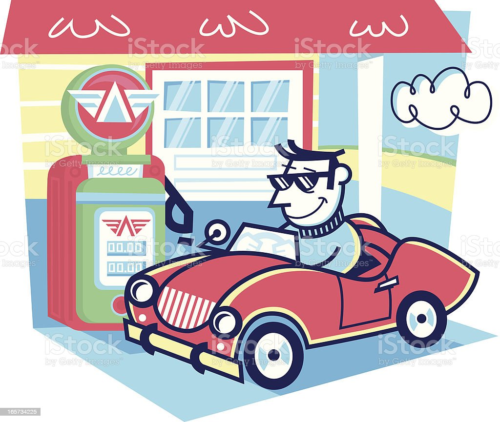 gas station vector art illustration