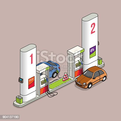 filling station isometric