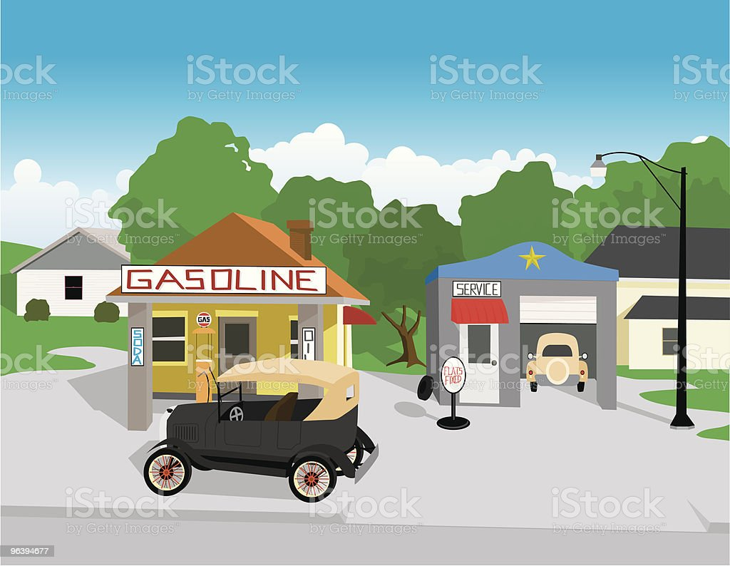 Gas Station royalty-free stock vector art