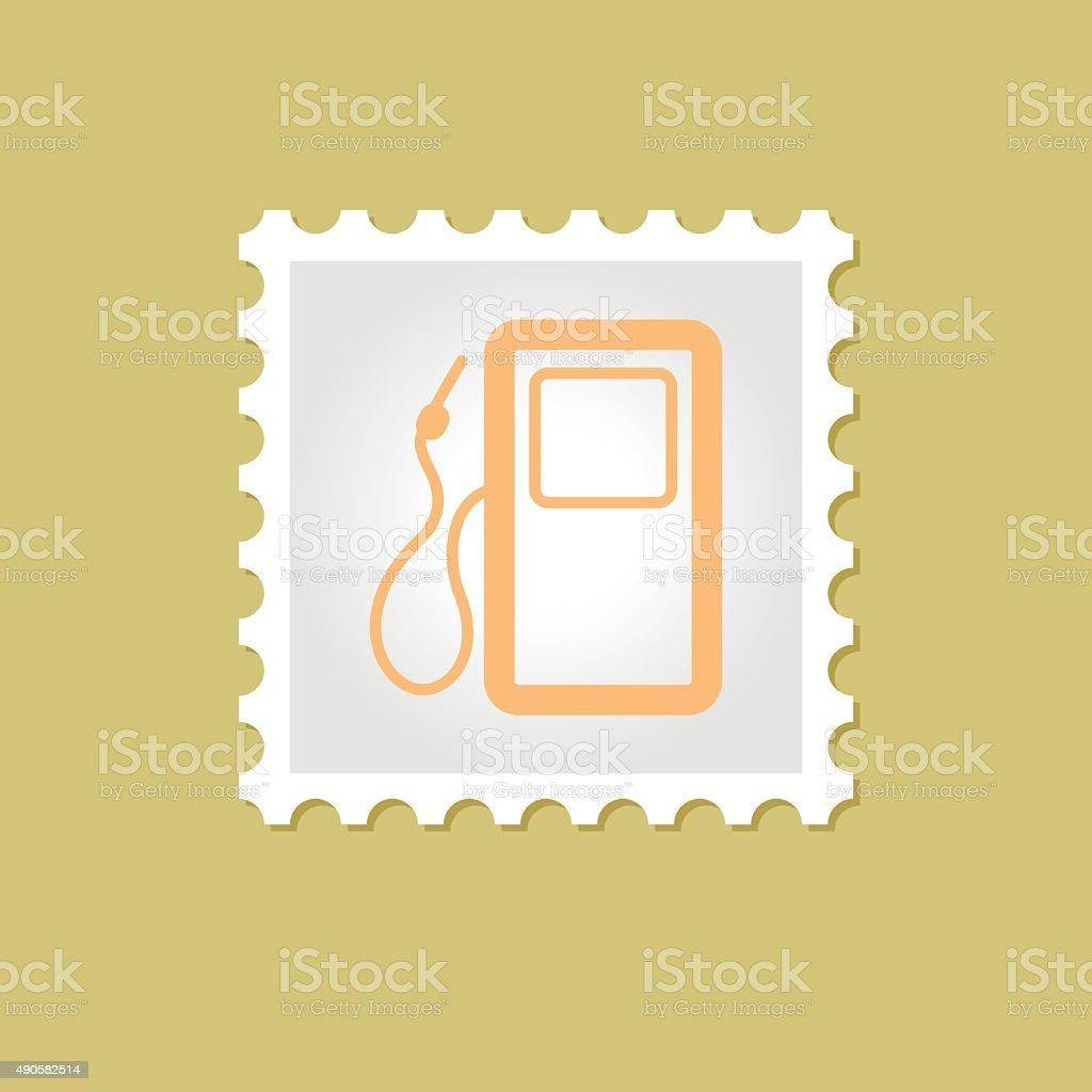 Gas Station Vector Stamp Stock Illustration - Download Image Now
