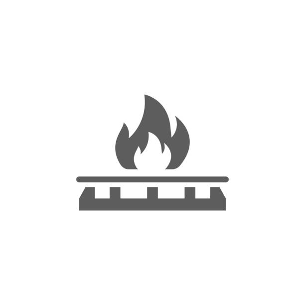 gas stove icon. Element of oil and gas icon. Premium quality graphic design icon. Signs and symbols collection icon for websites, web design, mobile app gas stove icon. Element of oil and gas icon. Premium quality graphic design icon. Signs and symbols collection icon for websites, web design, mobile app on white background stove stock illustrations
