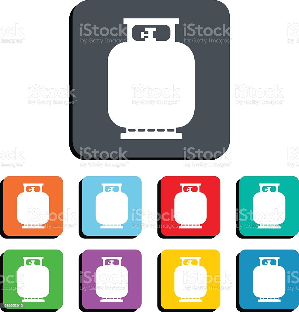 Gas Tank Bottle Vector Icon Illustration – Vektorgrafik
