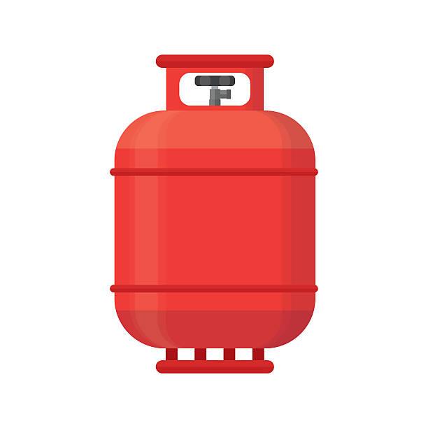 ilustraciones, imágenes clip art, dibujos animados e iconos de stock de gas tank icon. propane cylinder pressure fuel lpd - gas