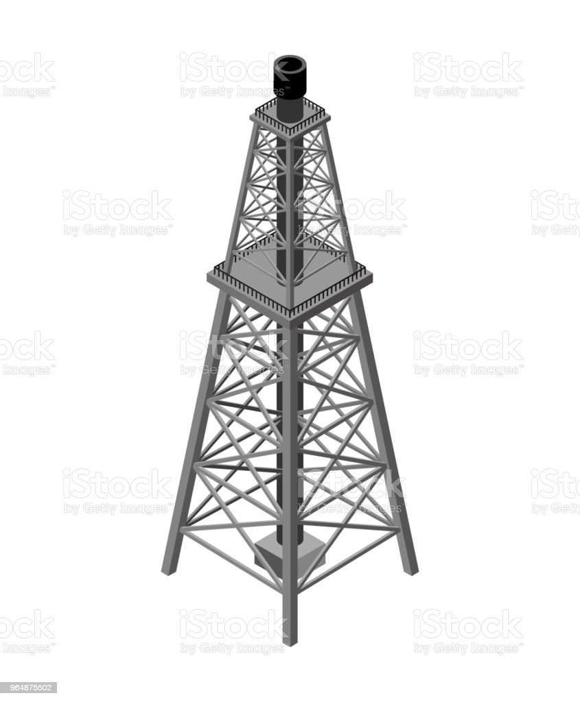 Gas tower Isometric . Industrial object. Vector illustration royalty-free gas tower isometric industrial object vector illustration stock vector art & more images of air pollution