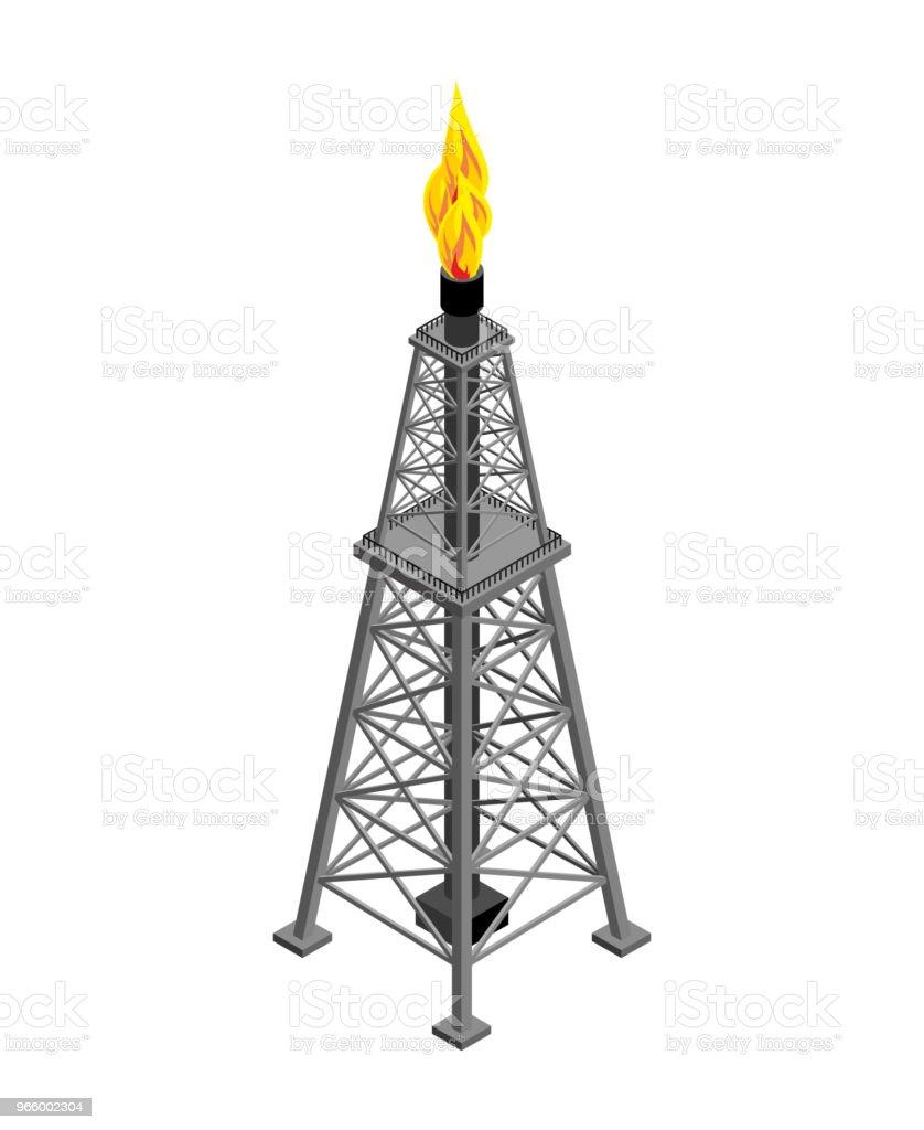 Gas toren isometrisch. Industriële object. Vectorillustratie - Royalty-free Achtergrond - Thema vectorkunst